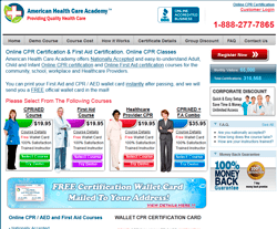 American Health Care Academy Coupon 2018
