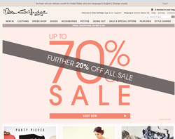 Miss Selfridge UK Discount Code 2018