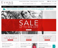 Evans Promo Code