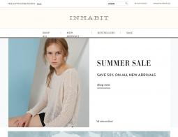 Inhabit Coupon 2018