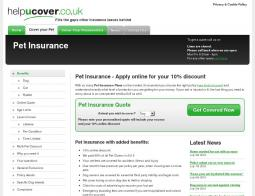 Helpucover Pet Insurance Discount Code