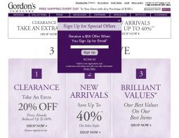 Gordon's Jewelers Coupon 2018