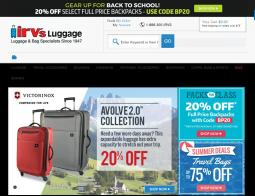 Irv's Luggage Promo Codes 2018