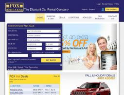 Fox Rent A Car Promo Codes 2018