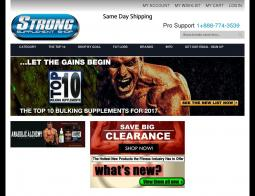 Strong Supplements Shop Coupons 2018
