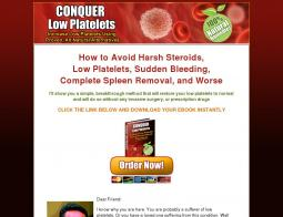 Conquer Low Platelets Promo Codes 2018
