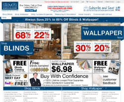Steve's Blinds & Wallpaper Promo Codes 2018