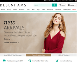 Debenhams Discount Codes 2018