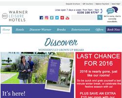 Warner Leisure Hotels Discount Code