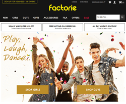 Factorie Promo Codes 2018