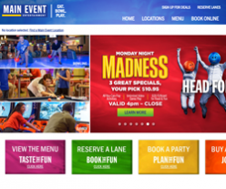 Main Event Entertainment Coupons 2018