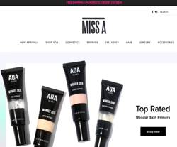 MISS A Discount Codes 2018