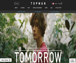 Topman US Promo Codes