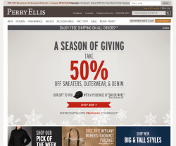 Perry Ellis Coupon 2018