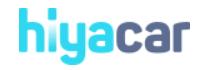 HiyaCar discount code