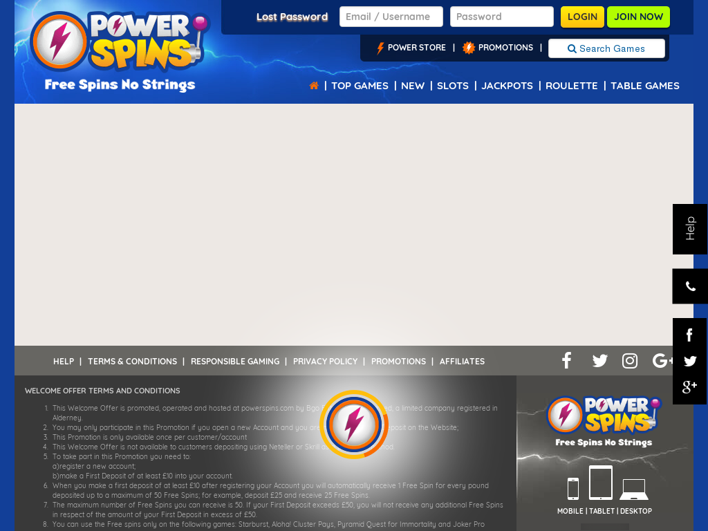 Power Spins Promo Codes & Discount Codes 2018