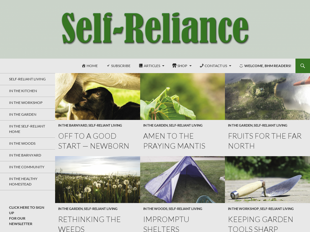 Self-Reliance magazine Promo Codes & Discount Codes 2018