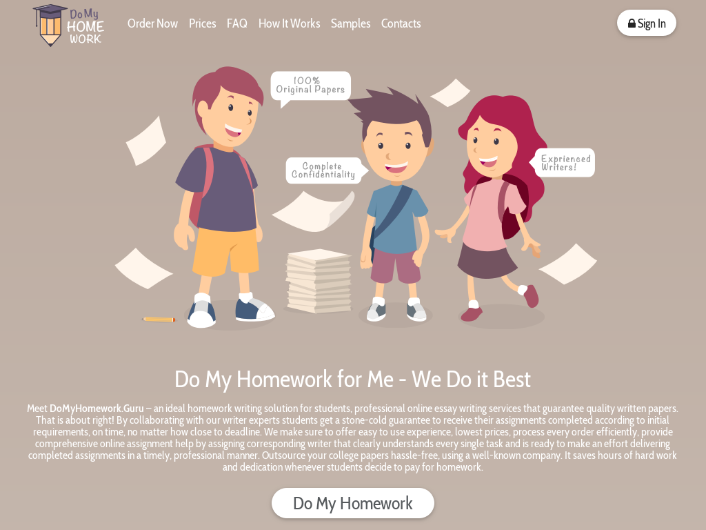 Do My Home Work Promo Codes & Discount Codes 2018