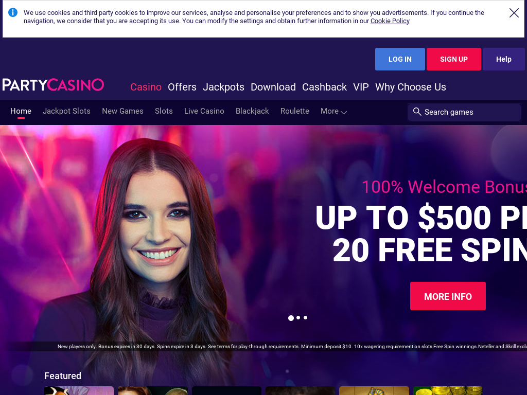 PartyCasino Promo Codes & Coupon Codes 2018