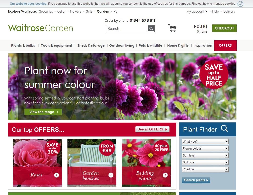 Waitrose Garden Discount Code 2018