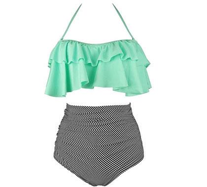 COCOSHIP High-Waist Bikini Set