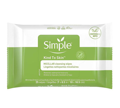Simple Kind to Skin Micellar Make-Up Remover Wipes