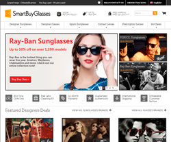 SmartBuyGlasses Canada Promo Codes & Coupons