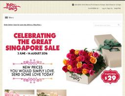 Roses Only SG Promo Codes & Coupons