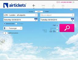 Airtickets Promo Codes & Coupons