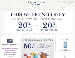 Crabtree Evelyn Canada Promo Codes & Coupons