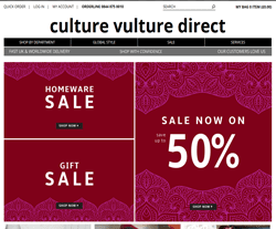 Culture Vulture Promo Codes & Coupons