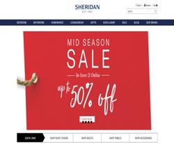 Sheridan UK Promo Codes & Coupons