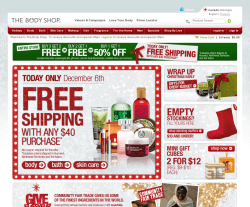 The Body Shop Canada Promo Codes & Coupons